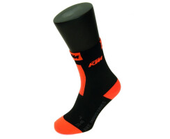 KTM Factory Team Compression Socken Cycling schwarz/orange